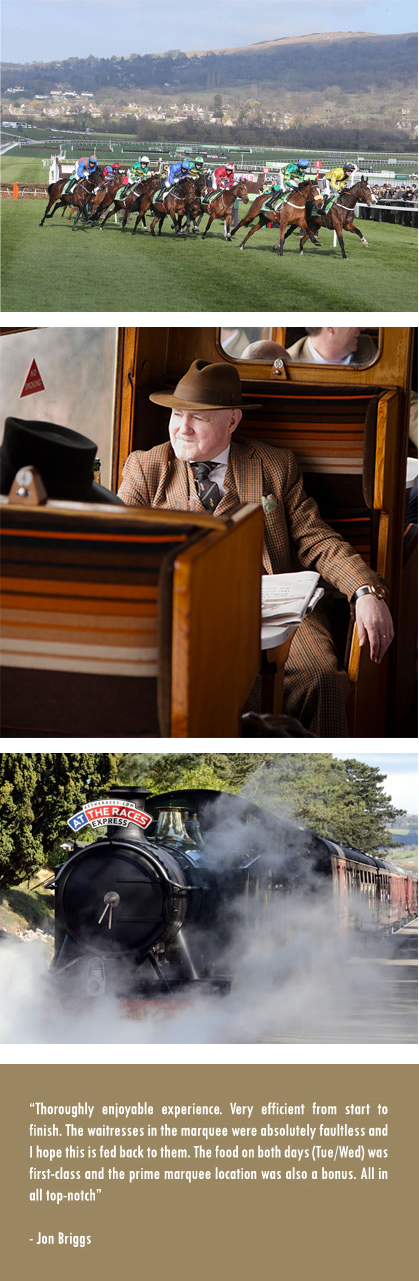 Racegoers Hospitality & Steam Train Package